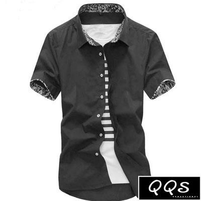 襯衫 男士短袖修身純色百搭   Mag072   ★ Magicman兄妹品牌QQS ★