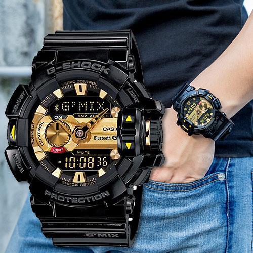 G~SHOCK GBA~400~1A9 智慧型藍芽手錶 GBA~400~1A9DR 大黑金