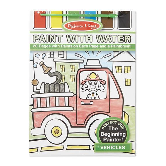 ~ ~Melissa Doug_Paint With Water_交通工具VEHICLES