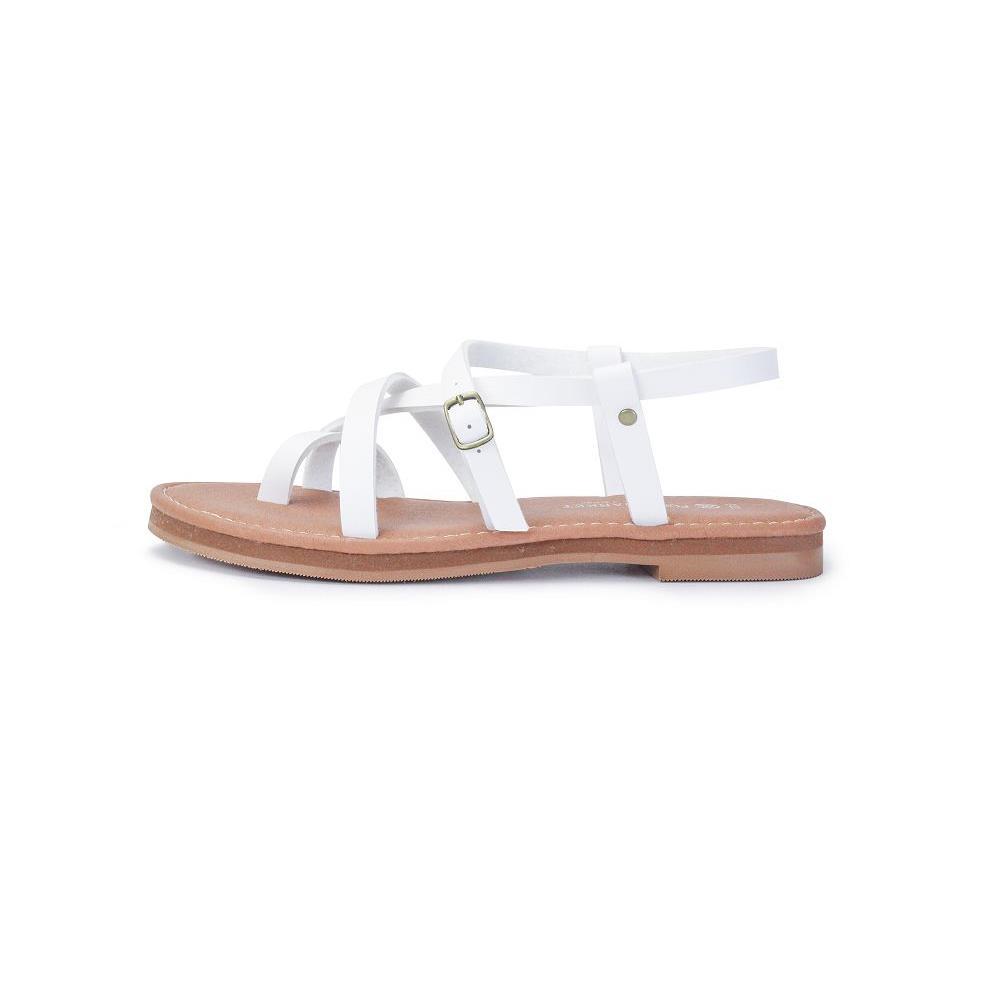 MMN72 交錯 涼鞋 白