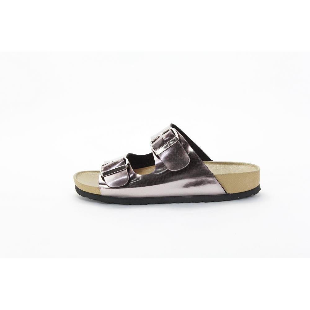 PPR51 粗條雙扣環拖鞋 錫