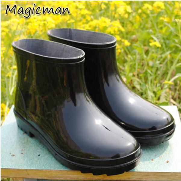 男雨鞋 短筒短靴 雨靴(X352)~ Magicman兄妹品牌QQS ~