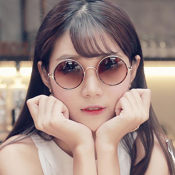 墨鏡 簡約古典圓框哥德十字金屬圖騰抗UV太陽眼鏡 九色 ~RCE435~