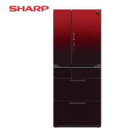 [SHARP 夏普]601公升  六門變頻環保冰箱~星鑽紅 SJ~GF60BT~R
