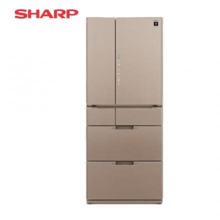 [SHARP 夏普]601公升  六門變頻環保冰箱~星鑽棕 SJ~GF60BT~T