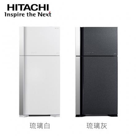 [HITACHI 日立家電]570公升 雙門變頻電冰箱~琉璃白 琉璃灰~RG599