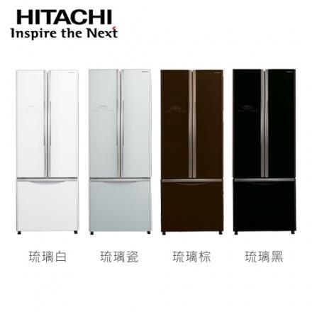 [HITACHI 日立家電]421公升 三門變頻冰箱~琉璃白 琉璃瓷 琉璃棕 ~RG430