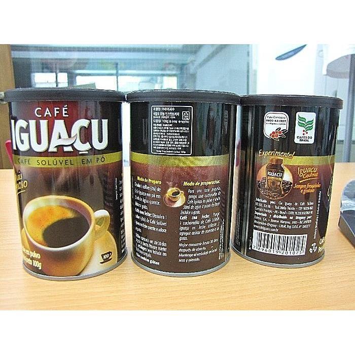 巴西咖啡 CAFE IGUACU 100g 巴西老牌IGUACU 伊瓜蘇純黑即溶咖啡粉 1