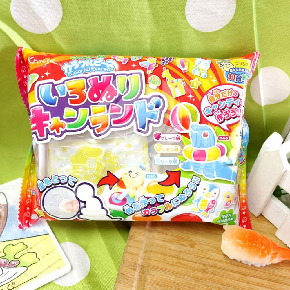 自己作糖果自己吃^! 愛畫畫的小孩充滿創造力!小畫家DIY軟糖^!~ Kracie~繪畫軟