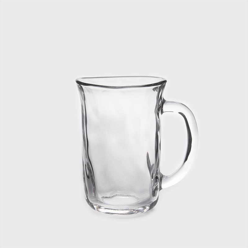 ADERIA GLASS 日製手捻仿陶 310ml 玻璃啤酒杯│單品