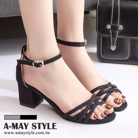 艾美 ~涼鞋~高雅編織感粗跟涼鞋~XK55520~