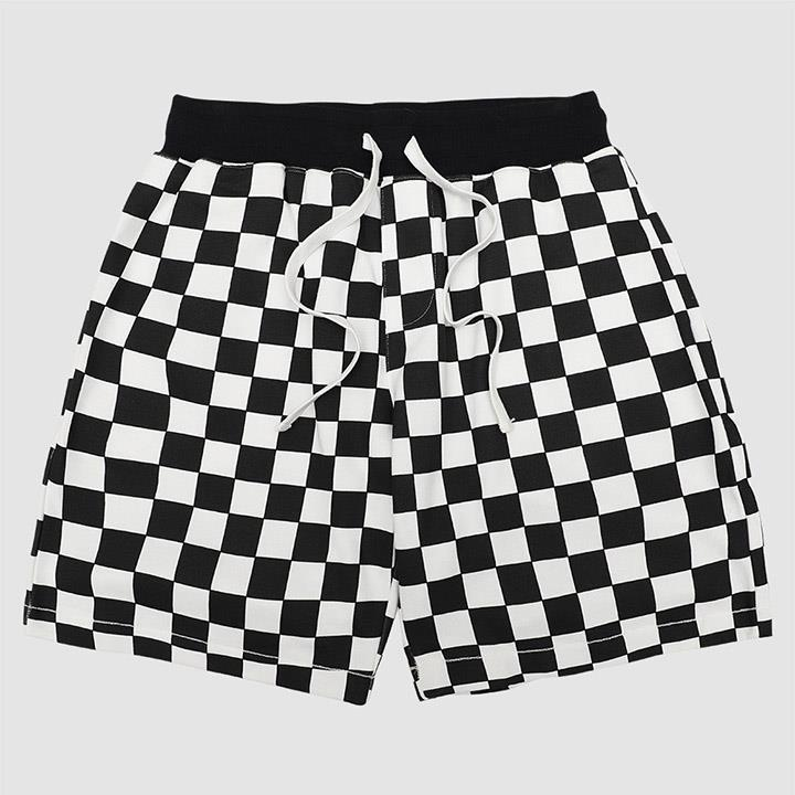 【QUEST】CHECKERBOARD SHORTS 棋盤格短褲
