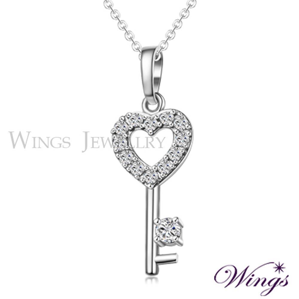 ~Wings~解開心鎖 閃耀方晶鋯石美鑽項鍊
