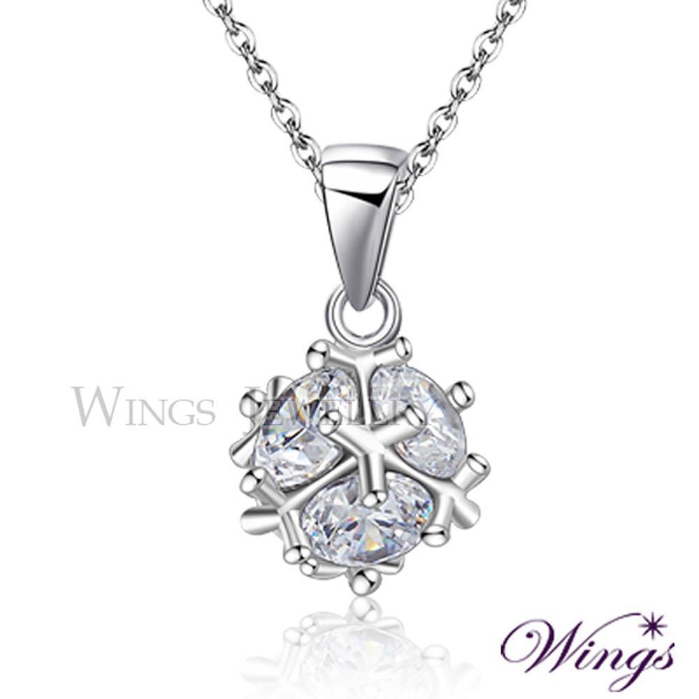 ~Wings~晶球閃耀 方晶鋯石美鑽項鍊