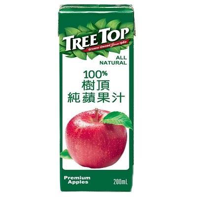 【樹頂】100%純蘋果汁 200ml 24入 箱購