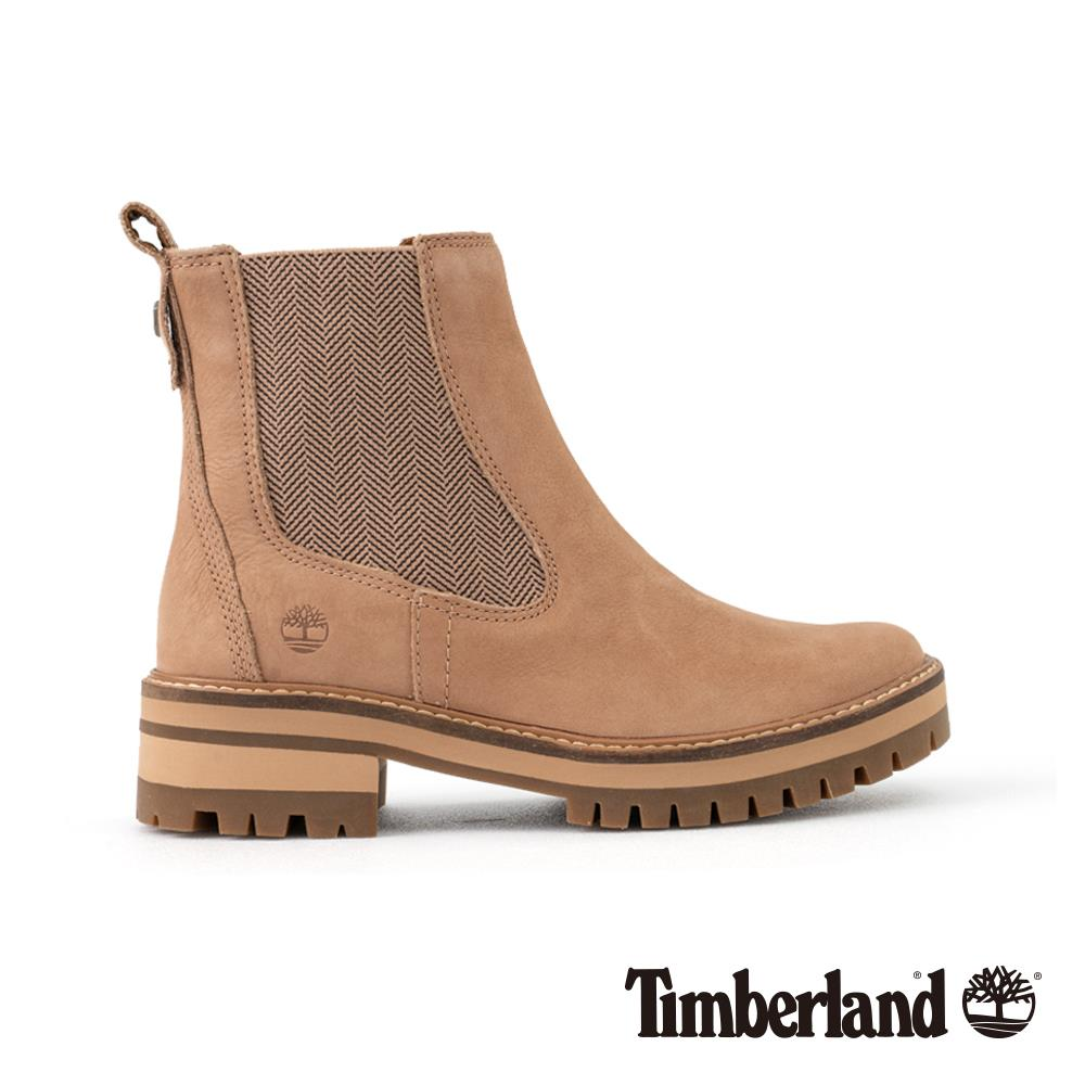 Timberland 女款米色正絨面皮革Courmayeur Valley 休閒鞋 | A1S9Z