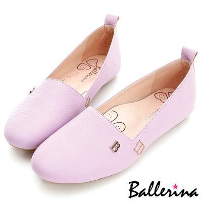 ~ 特惠▼799元~Ballerina~舒適厚切款.全真皮B字釦 莫卡辛~紫