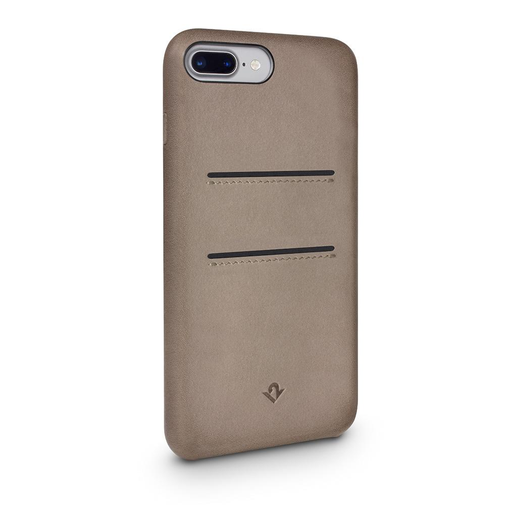 Twelve South Relaxed Leather iPhone 8 Plus / 7 Plus / 6 Plus / 6s Plus 卡夾皮革保護背蓋-灰褐色