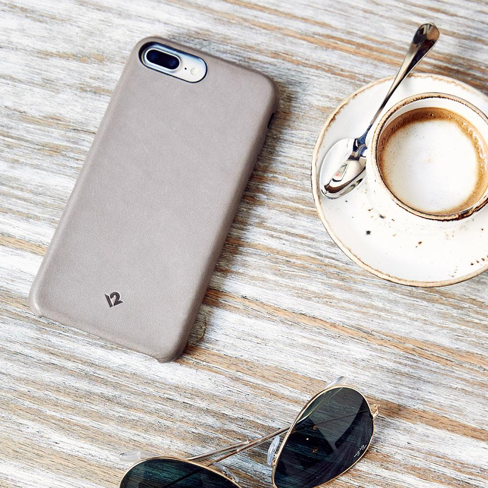 Twelve South Relaxed Leather iPhone 8 Plus / 7 Plus / 6 Plus / 6s Plus 皮革保護背蓋-灰褐色