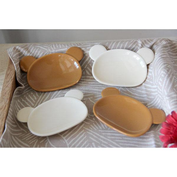 料理碟涼菜碟零食碟小果盤 Luzerne熊貓骨瓷調料碟 2個 組
