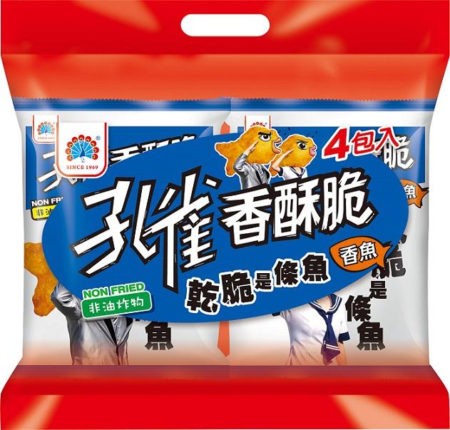 【乖乖】孔雀香酥脆香魚x50gx4包/袋