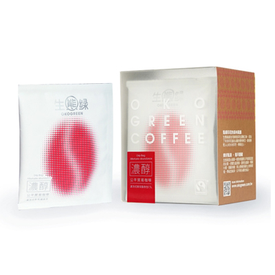 ^(公益 ^)公平貿易OKOGREEN生態綠濾泡式咖啡掛耳包 7入 ^(正義紅  濃醇風味