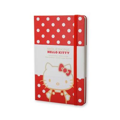 義大利MOLESKINE  HELLO KITTY 凱蒂貓 素面筆記本 192頁 ^(口袋