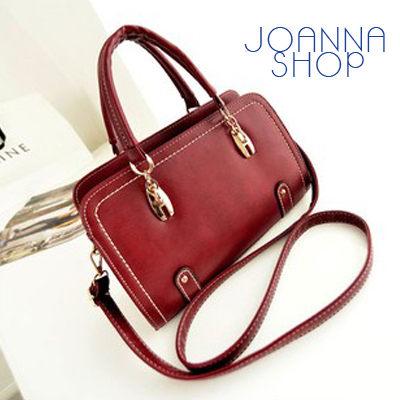 斜背包 車縫線感手提肩背三用包~Joanna Shop