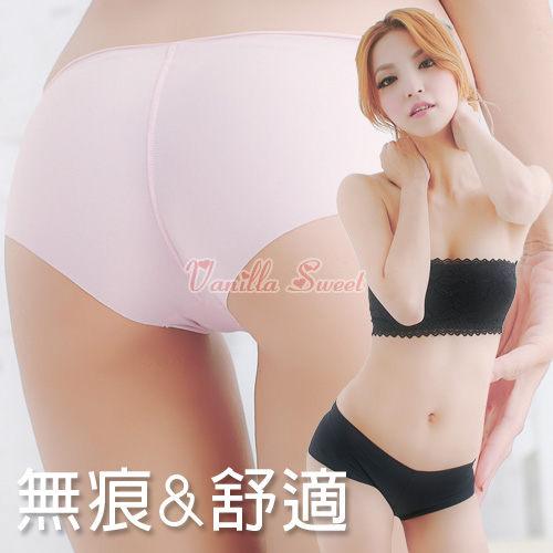 萊卡牛奶絲低腰平口無痕內褲‧輕甜原色超舒適 ~ 香草甜心E20417