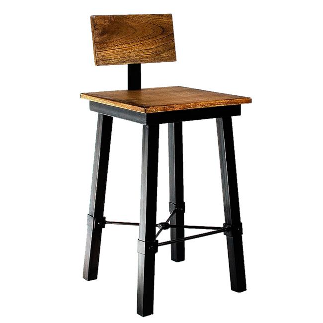 ~YOI~史代拉吧台椅 YIN~1023 ^(工業風 手作風舊木鐵件 復古 倉庫 製 印尼