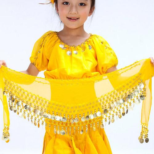 兒童肚皮舞雪紡腰鍊E331~A0115^( 腰鏈 腰巾 表演服飾 演出服飾 舞蹈服飾 肚皮