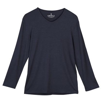 【零束縛】中空保溫系列秋冬百搭發熱衣-男長袖素色款