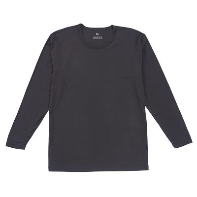【零束縛】急暖輕著系列秋冬百搭發熱衣-男長袖素色款