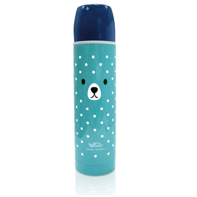 MY WATER 暖暖熊保溫保冷瓶/500ml/寶藍