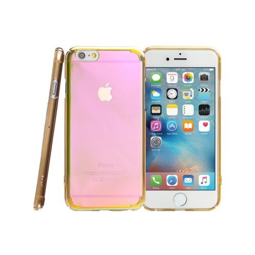 〈Simple wear〉 iPhone 6S LUSTER光學鍍膜保護殼~透金