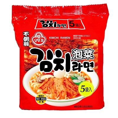 韓國不倒翁(OTTOGI)泡菜風味拉麵5包入
