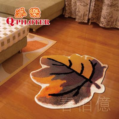派樂 超細纖維絨毛吸水楓葉 地毯 56x56cm^(1條^) 吸水地毯 防滑地墊 浴室踏墊