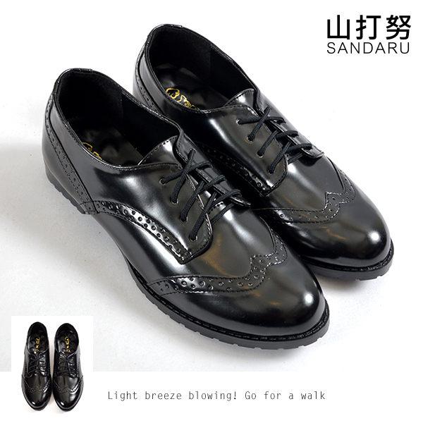 牛津鞋 綁帶低跟漆皮牛津鞋~ 山打努SANDARU~101A951^#46~