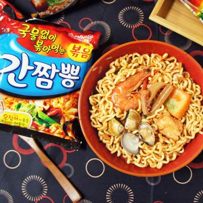 【SAMYANG】辣炒海鮮鐵板麵
