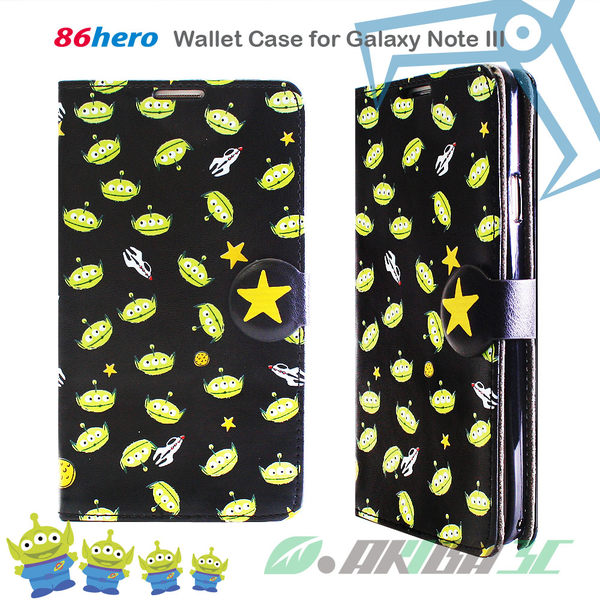 Samsung Galaxy Note 3 迪士尼 Disney 三眼怪 86hero 側