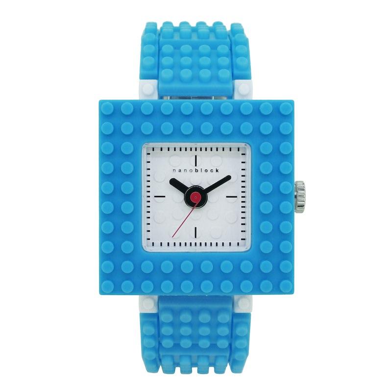 【nanoblock】日本河田積木中性錶 水藍色(WA10)