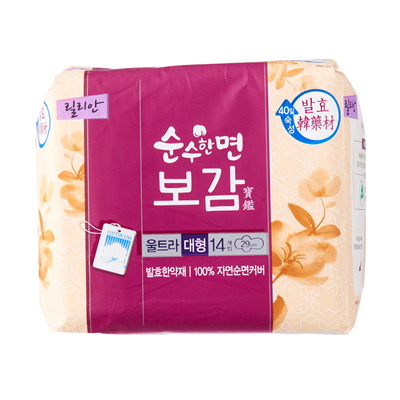 【KLEANNARA】韓國漢方衛生棉-夜用29公分