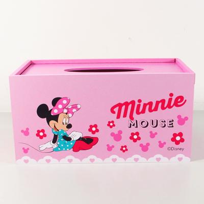 米妮木製面紙盒