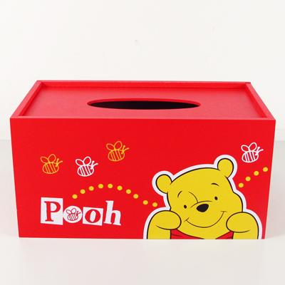 維尼木製面紙盒