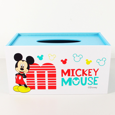 米奇木製面紙盒