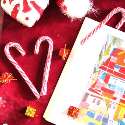 聖誕旋律柺杖糖-紅色