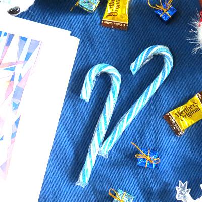 聖誕旋律柺杖糖-藍色