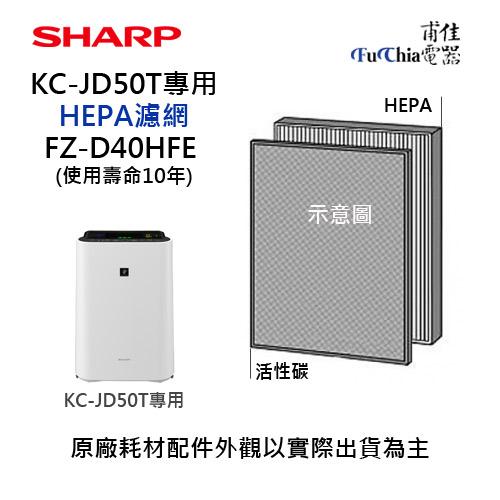 ~SHARP~HEPA濾網FZ~D40HFE~~KC~JD50T