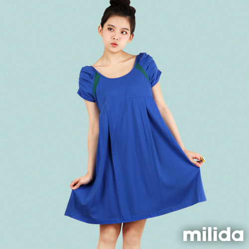 ~milida~MR08P012~公主袖寬鬆洋裝~