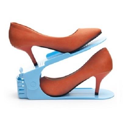 可調式簡易雙層立體收納鞋架/鞋櫃整理架~顏色隨機